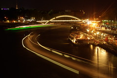 La Seine A Nuit (djemde) Tags: bridge paris france seine night river boat pont