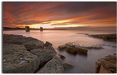 Torness Sunset (blue fin art) Tags: water canon long exposure lee 7d blocks filters powerstation eastlothian torness