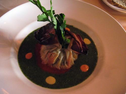 spinach tofu filo