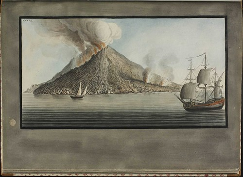 Plate 37, eruption on island of Stromboli
