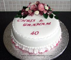 40th ruby anniversary cake (Helen The Cake Lady) Tags: wedding cake 40th anniversary ruby