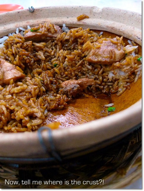 Crust-less Claypot Chicken Rice