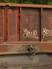 rgen_42 (Torben*) Tags: graffiti balticsea panasonic bergen rgen ostsee fz50 freightcar gterwaggon rawtherapee