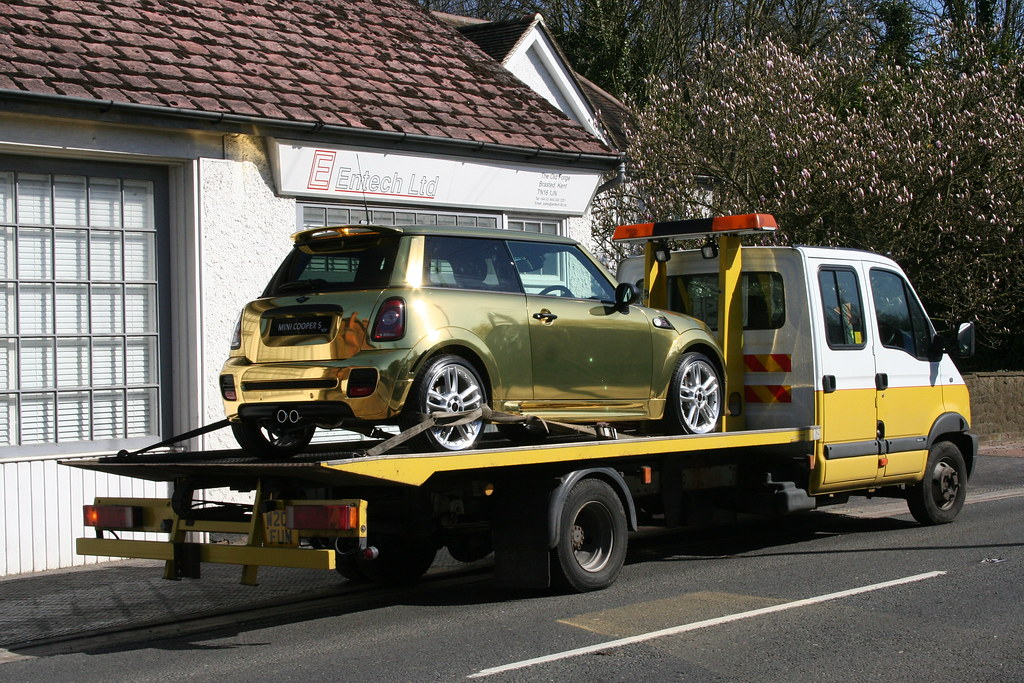 Gold-plated Mini Cooper S at Seal,Kent,UK on 8th April 2010