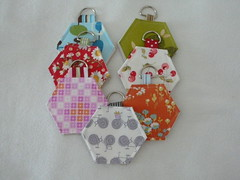 hexagon needlebooks (2mayboys) Tags: