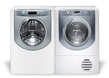 Hotpoint Aqualtis White Laundry Room Set