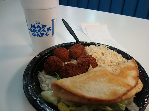 Falafel Plate @ Mad Greek