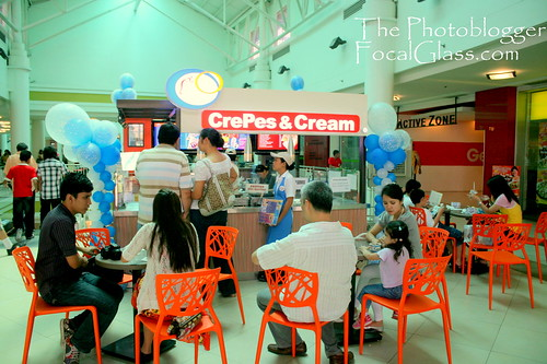 Crepes and Cream Stall in Ayala