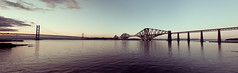 Forth Bridges (brotherlemski) Tags: sunset sun firthofforth forthroadbridge magiclight forthrailbride