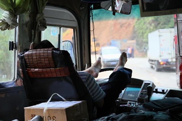 Bus driver, Guangxi, China