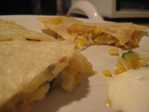 zucchini and corn quesadillas (#233)