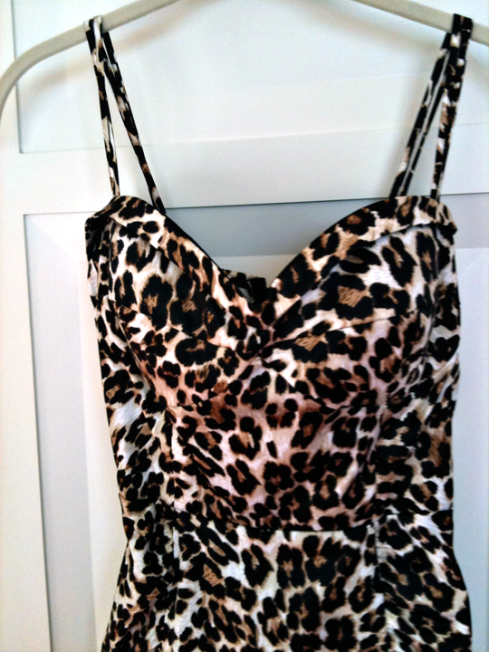 leopard dress from Annie Creamcheese