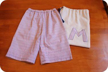 shorts+bag