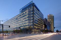 Sony Center (96dpi) Tags: longexposure blue berlin architecture sony center db hour architektur bluehour bahn deutsche langzeitbelichtung aventis blauestunde bahntower sanofi potsdamerstrase tse17