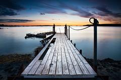 The Pier (KristjnFreyr) Tags: ocean wood old sunset sea seascape cold night clouds canon landscape harbor pier boat iceland warm walkway lee l 5d fav reykjavk f28 sland manfrotto grafarvogur 1635 bryggja landslag rvk ljsmyndakeppni hvaleyri