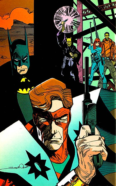 Walt Simonson Manhunter Batman pinup from 1999 special edition