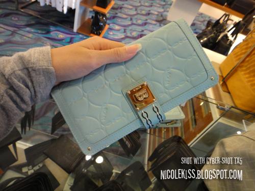 baby blue bonia purse