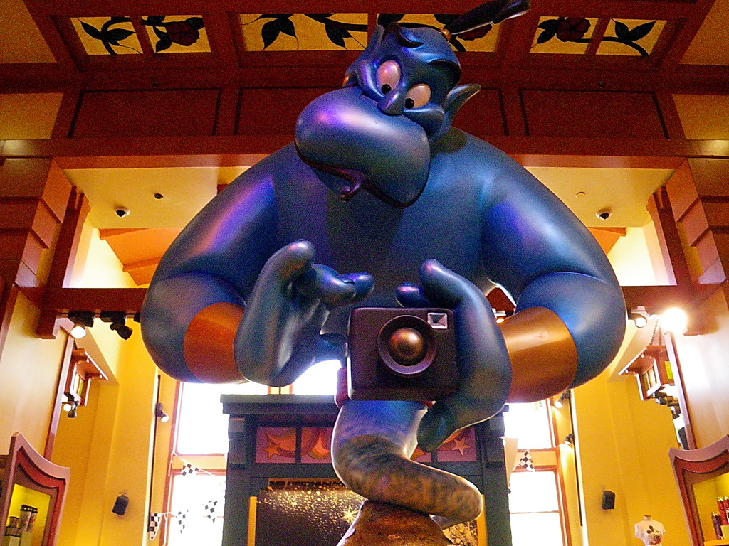 Aladdin's Genie with camera - Disneyland store