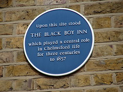 Photo of Black Boy Inn blue plaque