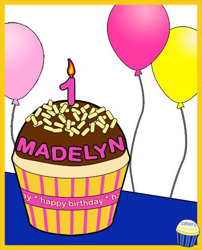 Madelyn Rebecca's 1st birthday cupcake