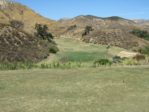 Fourth hole at Lost Canyons Golf Club - Ventura County CA