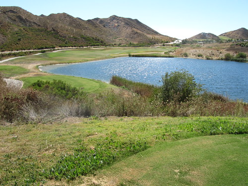 Ninth tee shot - Lost Canyons Golf - Simi Valley CA