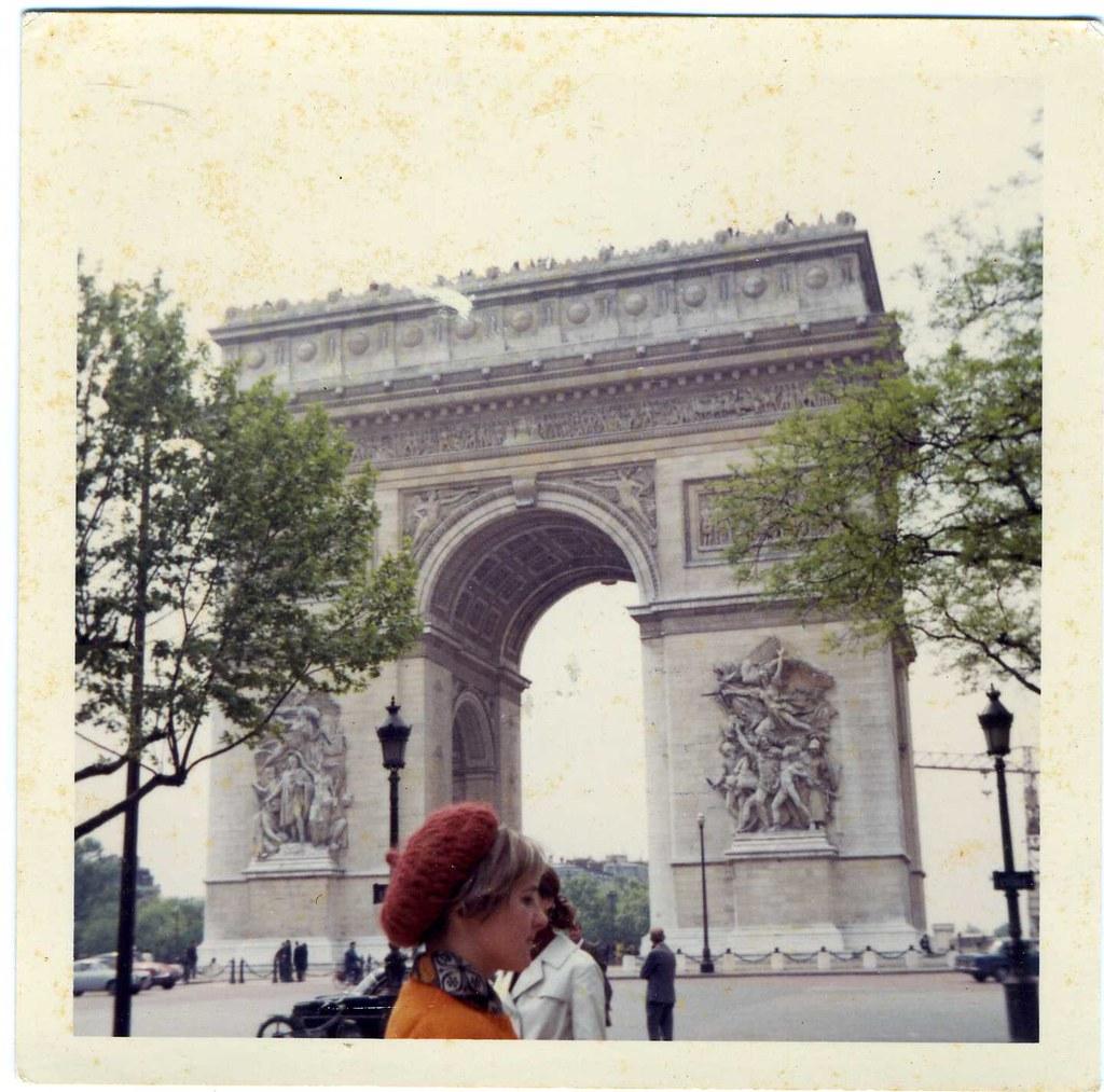 Color Snapshot: Girl, Paris, 1968 [For RitaGB]
