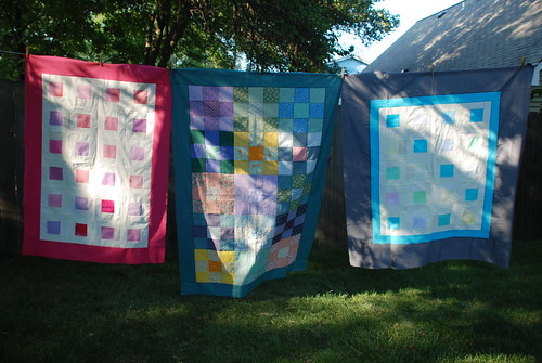 august quilt tops