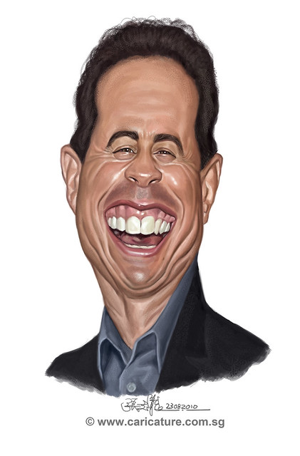 digital caricature of Jerry Seinfeld