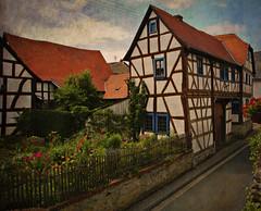 ~medieval fairytale~ (uteart) Tags: house germany medieval restored hesse fachwerk fachwerkhaus halftimberedconstruction utahagen mywinners waldsolms brandoberndorf uteart texturebyskeletalmess