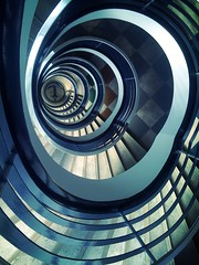 6th floor. (Sascha Unger) Tags: light urban berlin art architecture stairs germany design licht office angle perspective treppe wilmersdorf sascha architektur dizzy escalier bannister perspektive charlottenburg iphone treppenhaus pictureshow rankeplatz deltalloyd lietzenburgerstrase sascha2010 saschaunger