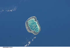Mataiva Atoll, South Pacific (NASA, International Space Station Science, 08/13/10) (NASA's Marshall Space Flight Center) Tags: volcano lagoon nasa vanilla coralreef atoll southpacificocean internationalspacestation copra pahua tuamotuarchipelago stationscience crewearthobservation mataivaatoll