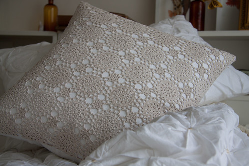 How to faker crochet cushion...