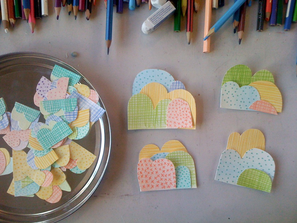 Making tiny mountain brooches