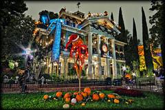 Haunted Mansion Holiday [Explore] (Silver1SWA (Ryan Pastorino)) Tags: holiday night canon disneyland sigma disney haunted explore mansion walt hdr hauntedmansion sigma1020 40d disneyphotochallenge disneyphotochallengewinner