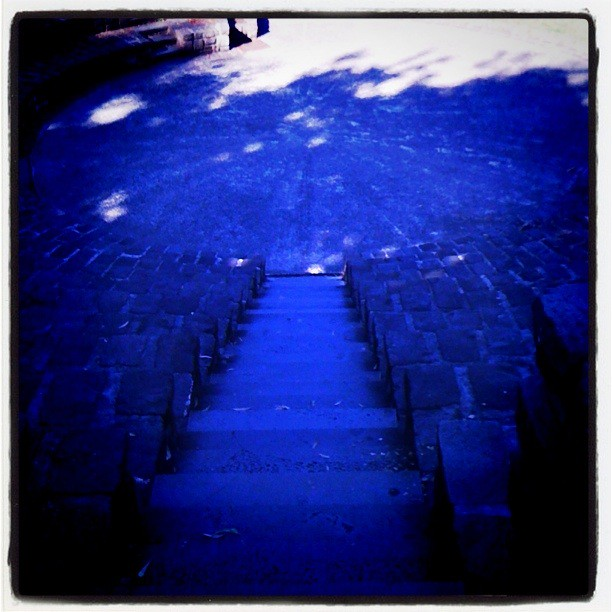 Bluestone stair ride at the amphitheatre