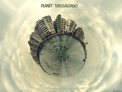 Planet Thessaloniki (nikosmchairas) Tags: panorama nikon hellas greece macedonia planet thessaloniki nikkor vr salonica 18105 thermaikos d90 f3556  3556       18105vr