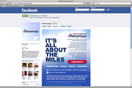 AAdvantage joins Facebook