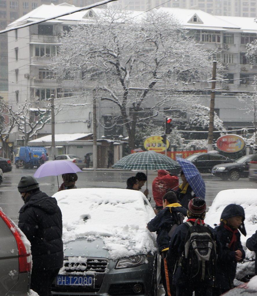 Snow in Shanghai