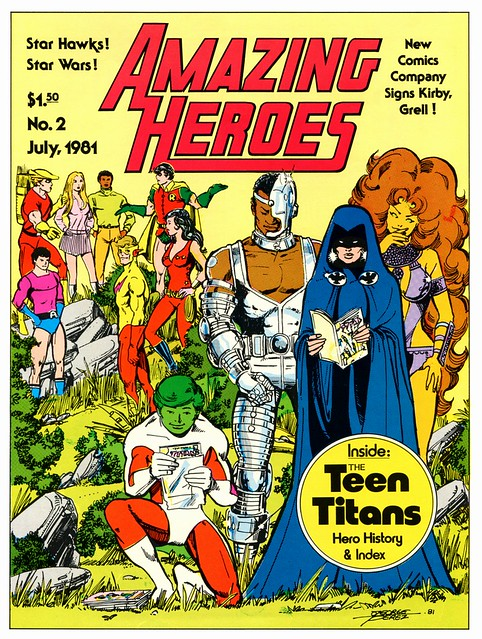 Amazing Heroes 2 1981 Teen Titans cover by George Perez