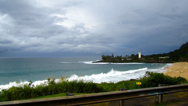 Hawaii, Oahu, North Shore, Waimea Bay, surf beach