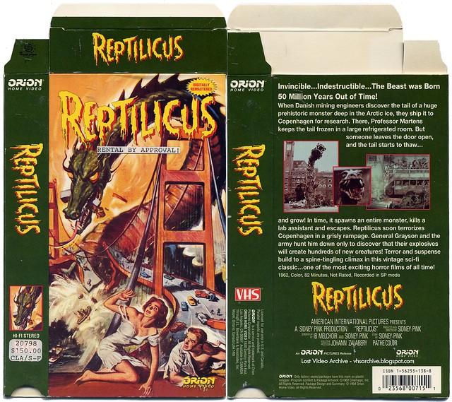 Reptilicus (VHS Box Art)