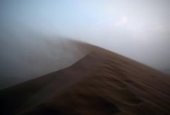 Wind blowing sand over a dune ... (J*D) Tags: storm sahara sand desert wind dunes dune sandstorm marroco marrocan