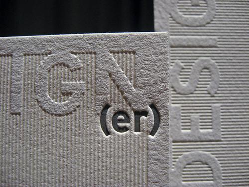 Design(er) Letterpress Business Cards