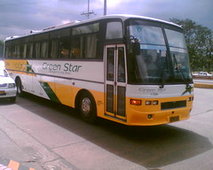 Green Star A-5200 (Bus Ticket Collector VII; Who Cares?! ♫) Tags: bus pub philippines laguna greenstar lawton dmmc airconbus pbpa lionsstar hinorf delmontemotors provincialoperation mercadogroup philippinebusphotographersassociation
