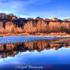 Blue & blue - HDR - Cuneo - River park - Parco fluviale - Italy (Margall photography) Tags: park blue winter parco house tree water canon reflections river photography mirror dc raw blu fiume sigma case single marco acqua cuneo riflessi 18200 hdr 190 manfrotto specchio monopod 30d galletto margall fluviale xprob mygearandme