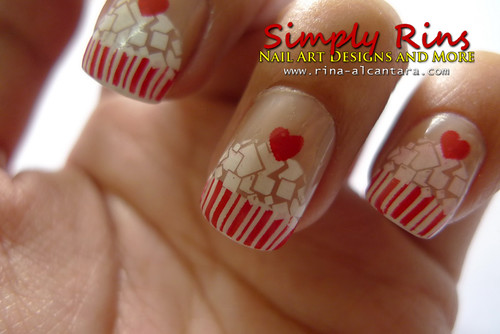 Cupcake Nail Art Using Konad 07