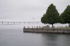 fog, st. marys river (twurdemann) Tags: bwnd106 boardwalk bondarmarina bridge fog fujixt1 internationalbridge leeseven5 longexposure neutraldensityfilter saultcanal saultstemarie stmarysriver water waterfront weather xf55200mm