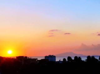 Italy 2016 ❤️ Sunset over Sorrento, with view of Capri
