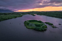 Ancient Ring Fort Island of Lough Doon - Donegal (Gareth Wray - 10 Million Views, Thank You) Tags: dji phantom 4 pro p4p four drone aerial quadcopter grianan portnoo ardara rosbeg doon lough island lake bawan o'boyle aileach ancient irish kings hill lookout fort ring ringed county donegal ireland summer landmark stone monument tourist tourists site famous visit scenic countryside druid celtic gareth wray photography nikon sun sky historic heather bog heath national gaelic photographer vacation holiday europe kingdom outdoor architecture landscape wild atlantic way sunset seaside shore coast sea cloud